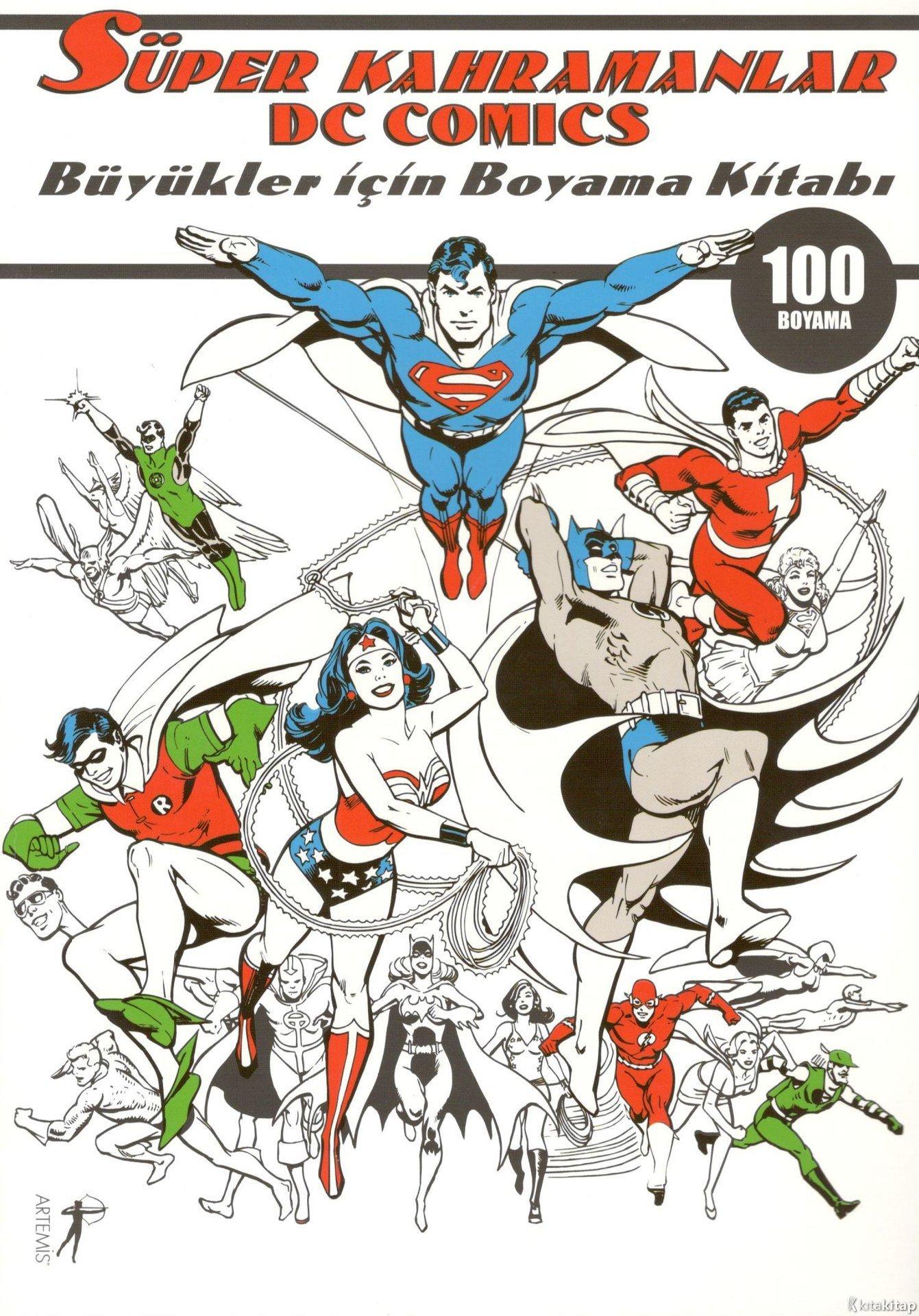 Super Kahramanlar Buyukler Icin Boyama Kitabi Artemis P